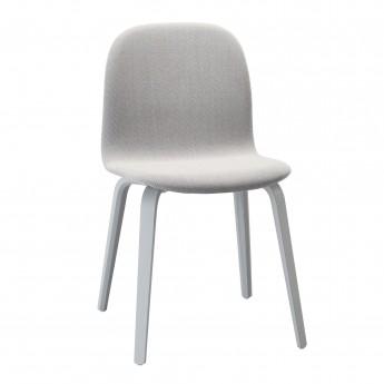 Chaise VISU tapissée gris