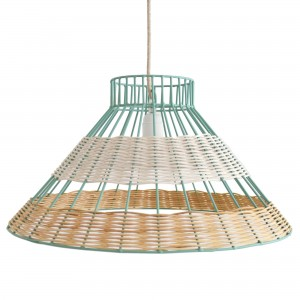 STRAW blue pendant lamp