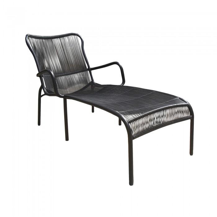 Chaise longue LOOP noir