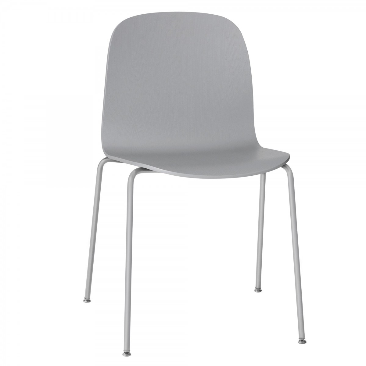 Visu chair tube base in grey muuto - Chaise kubu gris ...