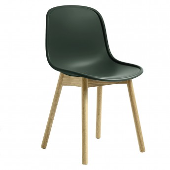 Chaise NEU 13 vert base chêne