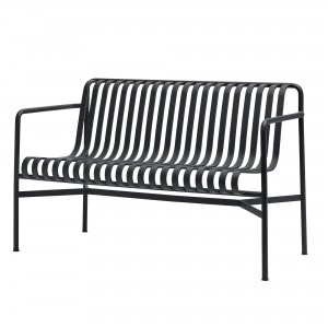 Banc avec dossier PALISSADE anthracite