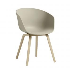 chaise aac 22 vert pastel en ch ne et coque en polypropyl ne hay. Black Bedroom Furniture Sets. Home Design Ideas