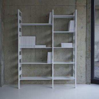 Système d'étagères PARALLEL gris option 1