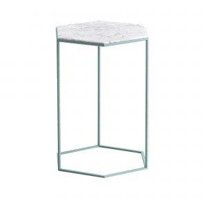 Table HEXXED marbre