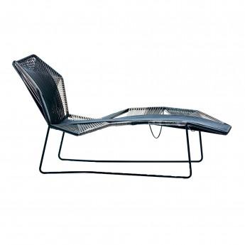 Chaise longue TROPICALIA noir/blanc