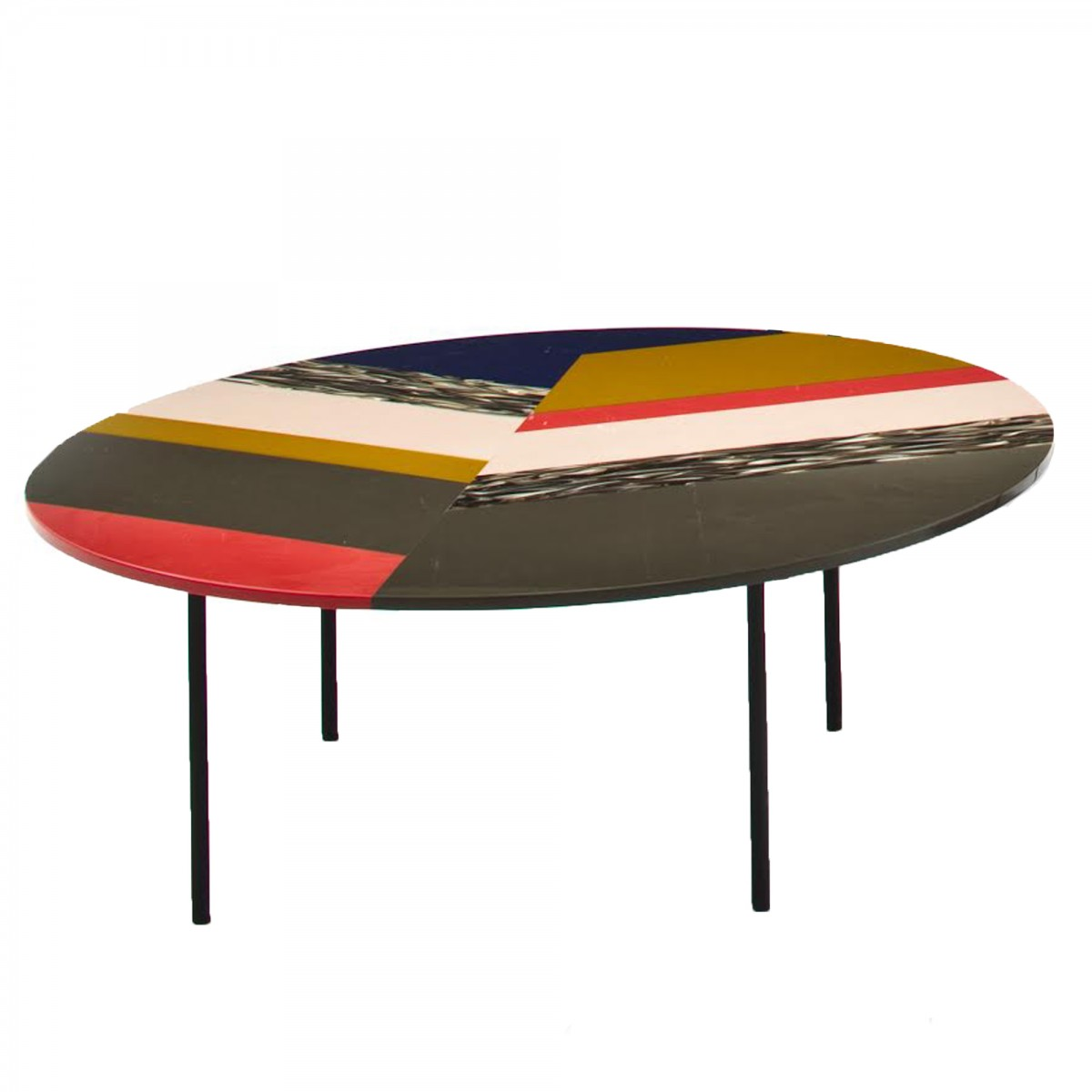 Table basse ronde m a s s a s fishbone moroso for 2 table basse ronde