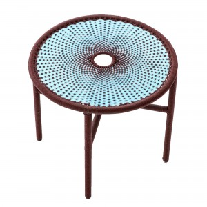 Table basse BANJOOLI S turquoise/marron