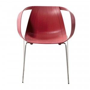 Fauteuil IMPOSSIBLE WOOD indian pink