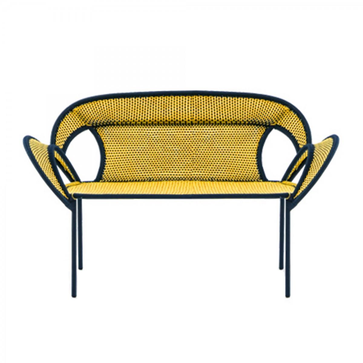 Canap banjooli jaune noir moroso for Canape jaune