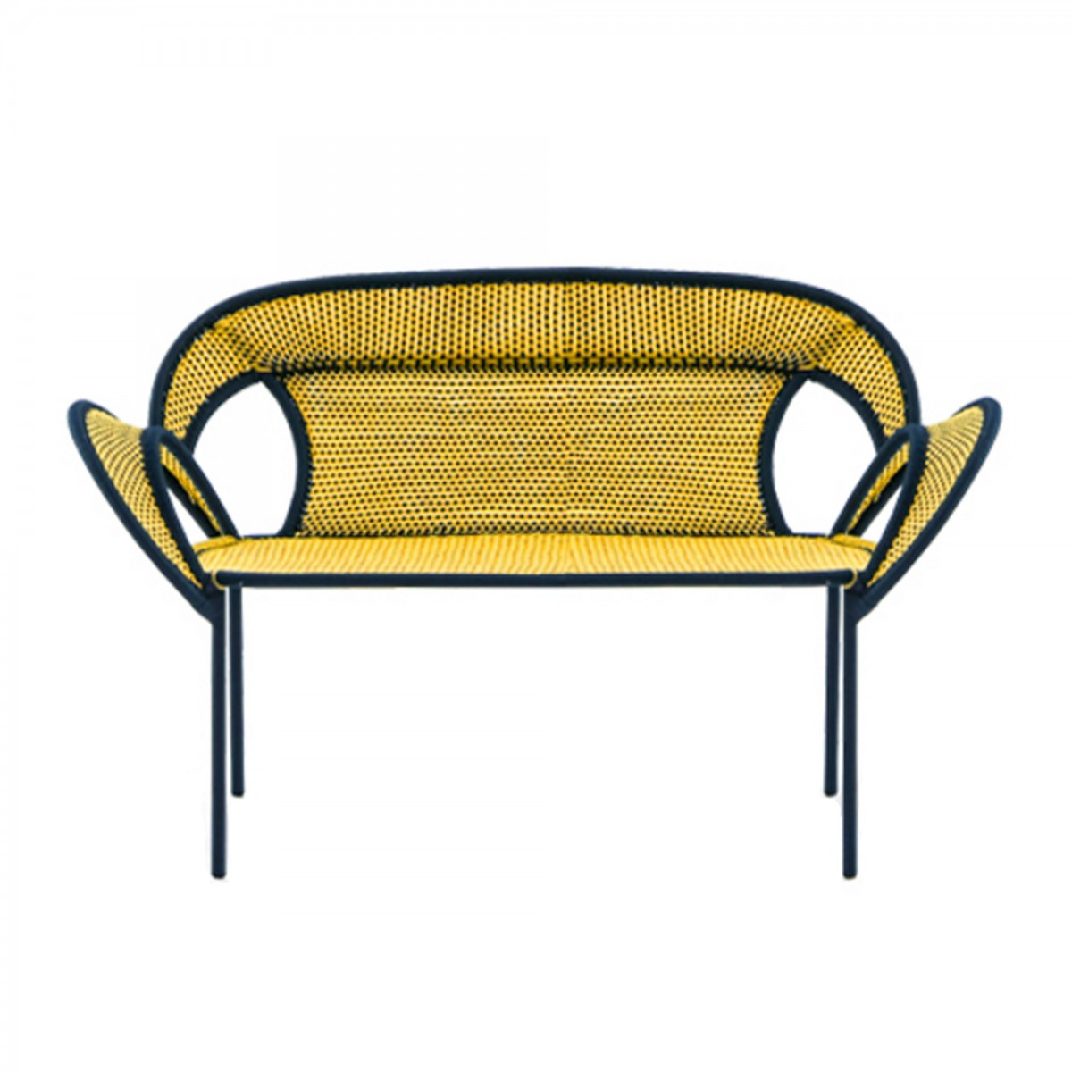 canap banjooli jaune noir moroso. Black Bedroom Furniture Sets. Home Design Ideas