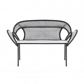 BANJOOLI sofa white/black