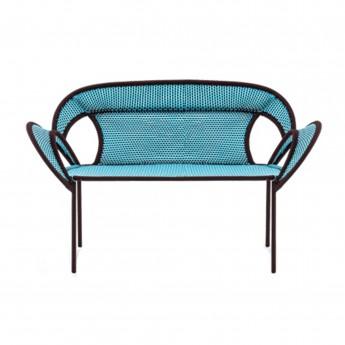 BANJOOLI sofa blue/brown