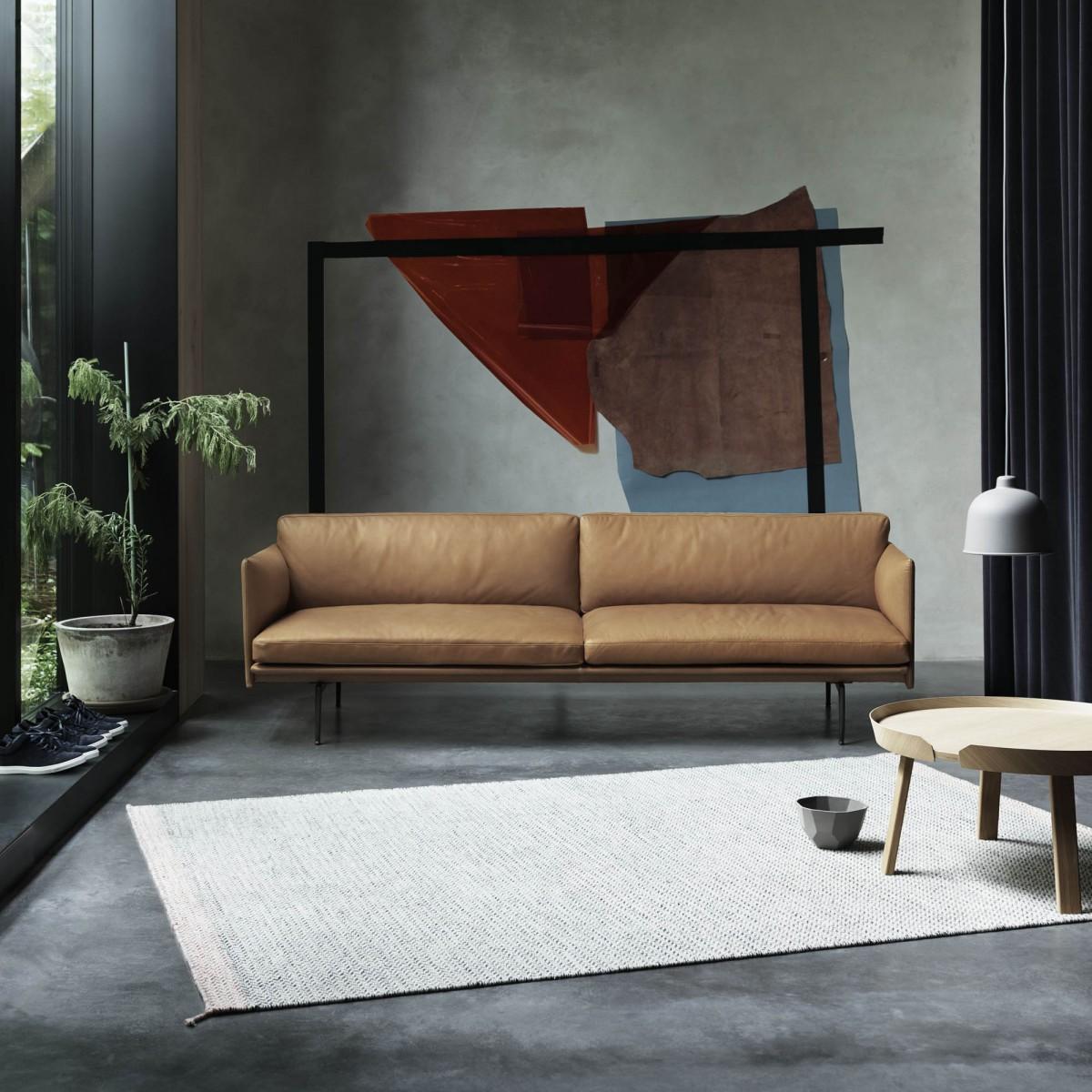 canap outline 3 places l gant et confortable muuto. Black Bedroom Furniture Sets. Home Design Ideas