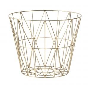 WIRE L basket brass