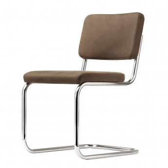 Chaise S32 PV cuir brun