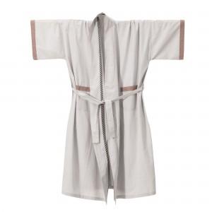 BLISS Kimono Bath Robe light grey
