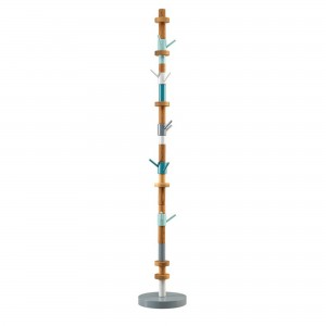STACK hall stand blue and oak