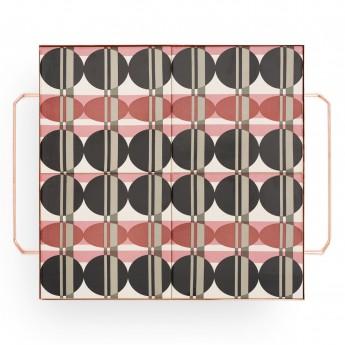 Plateau MIX & MATCH carré rose L