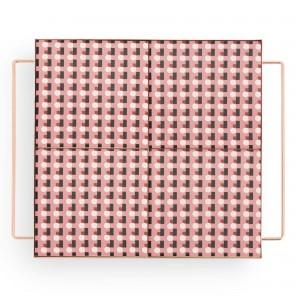 Plateau MIX & MATCH carré rose M