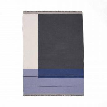 COLOUR BLOCK blue blanket
