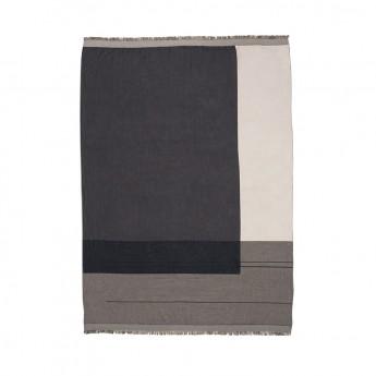 COLOUR BLOCK gris blanket
