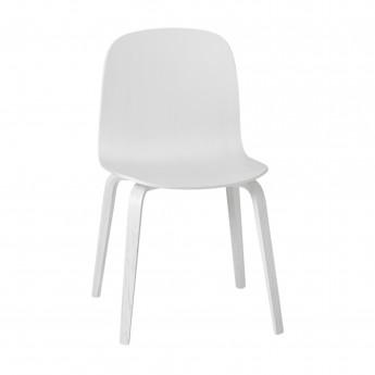 Chaise VISU pieds bois gris foncé