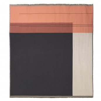 COLOUR BLOCK pink bed cover