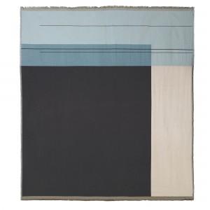 Couverture de lit COLOUR BLOCK bleu clair