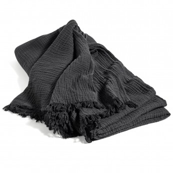 Couvre-lit CRINKLE anthracite