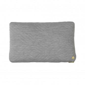 Coussin QUILT gris 40 x 25 cm