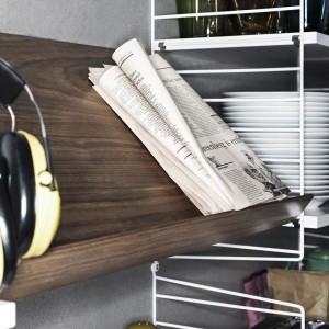 WOODEN MAGAZINE SHELF / STRING system