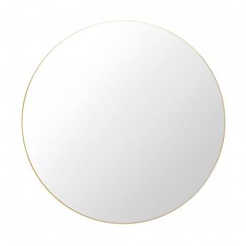 Miroir rond Ø110 cm laiton