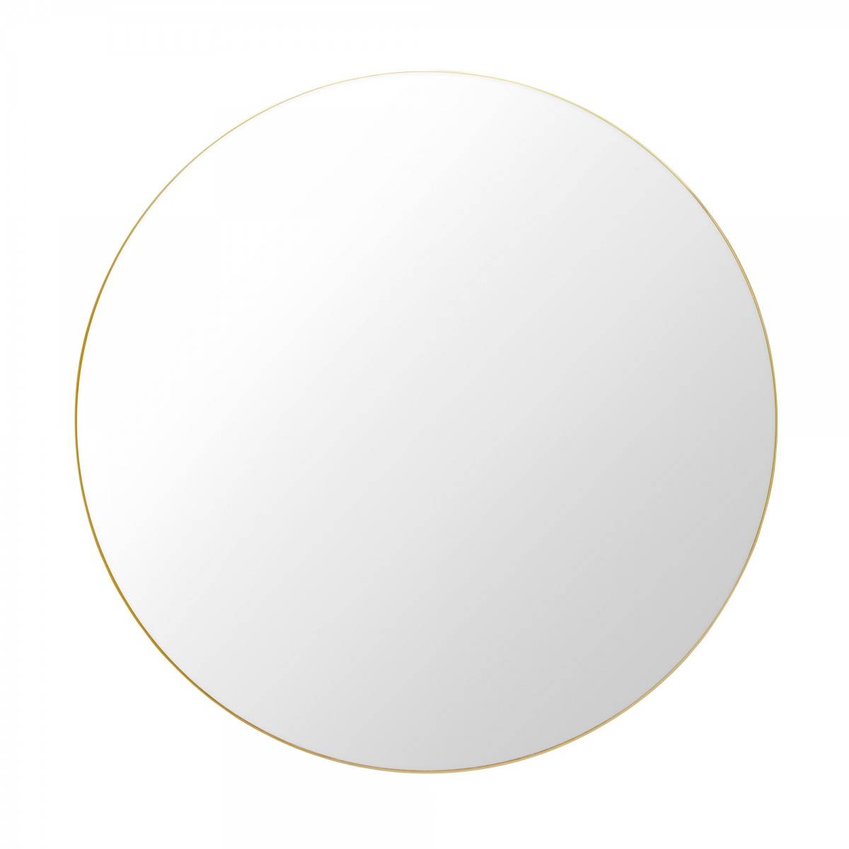 Miroir rond 110 cm laiton gubi for Miroir rond deco