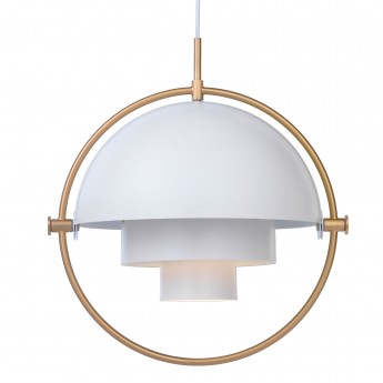 Suspension MULTI-LITE blanc & laiton