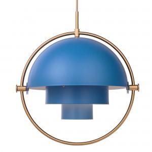 Suspension MULTI-LITE bleu & laiton