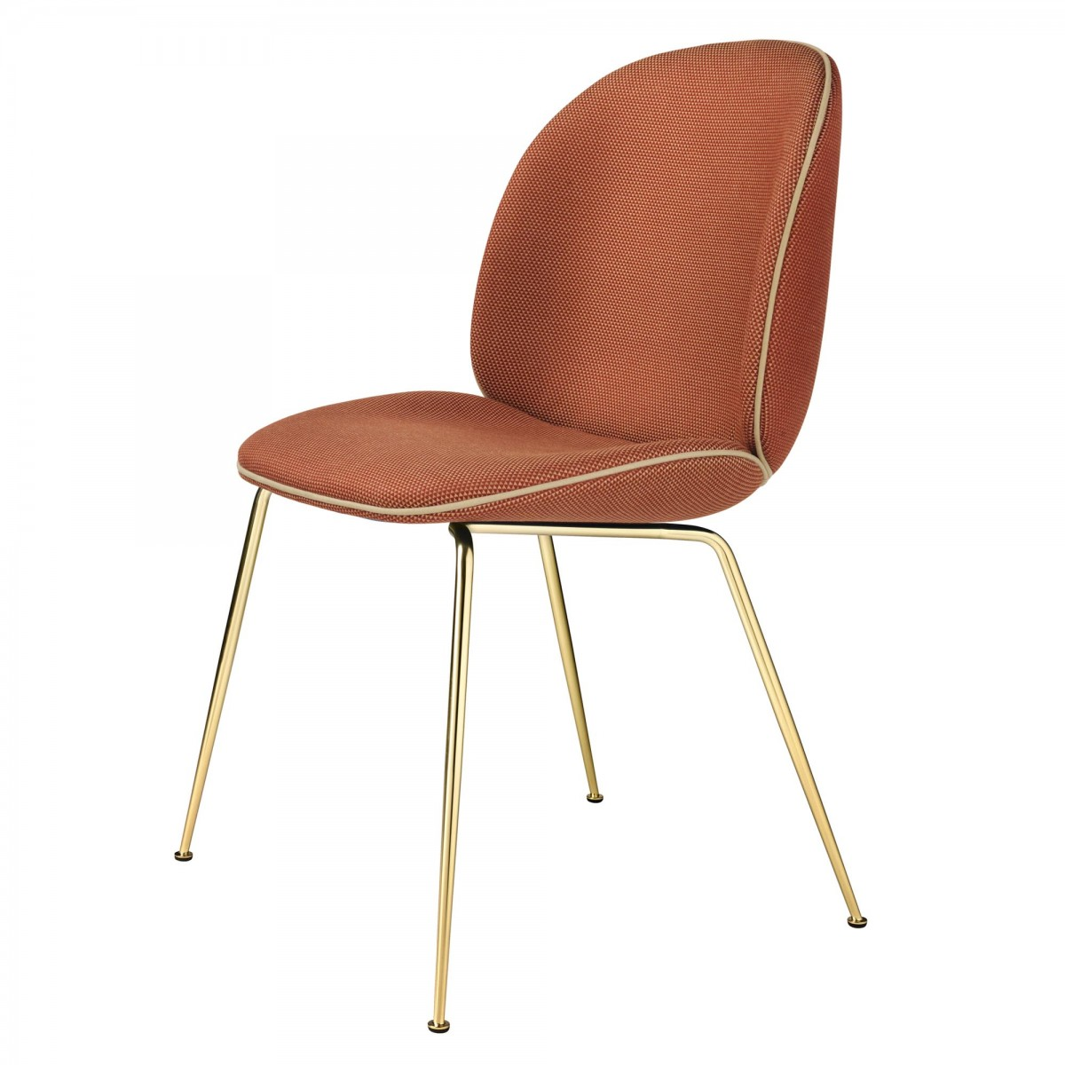 Chaise beetle solo base laiton gubi for Chaise gubi