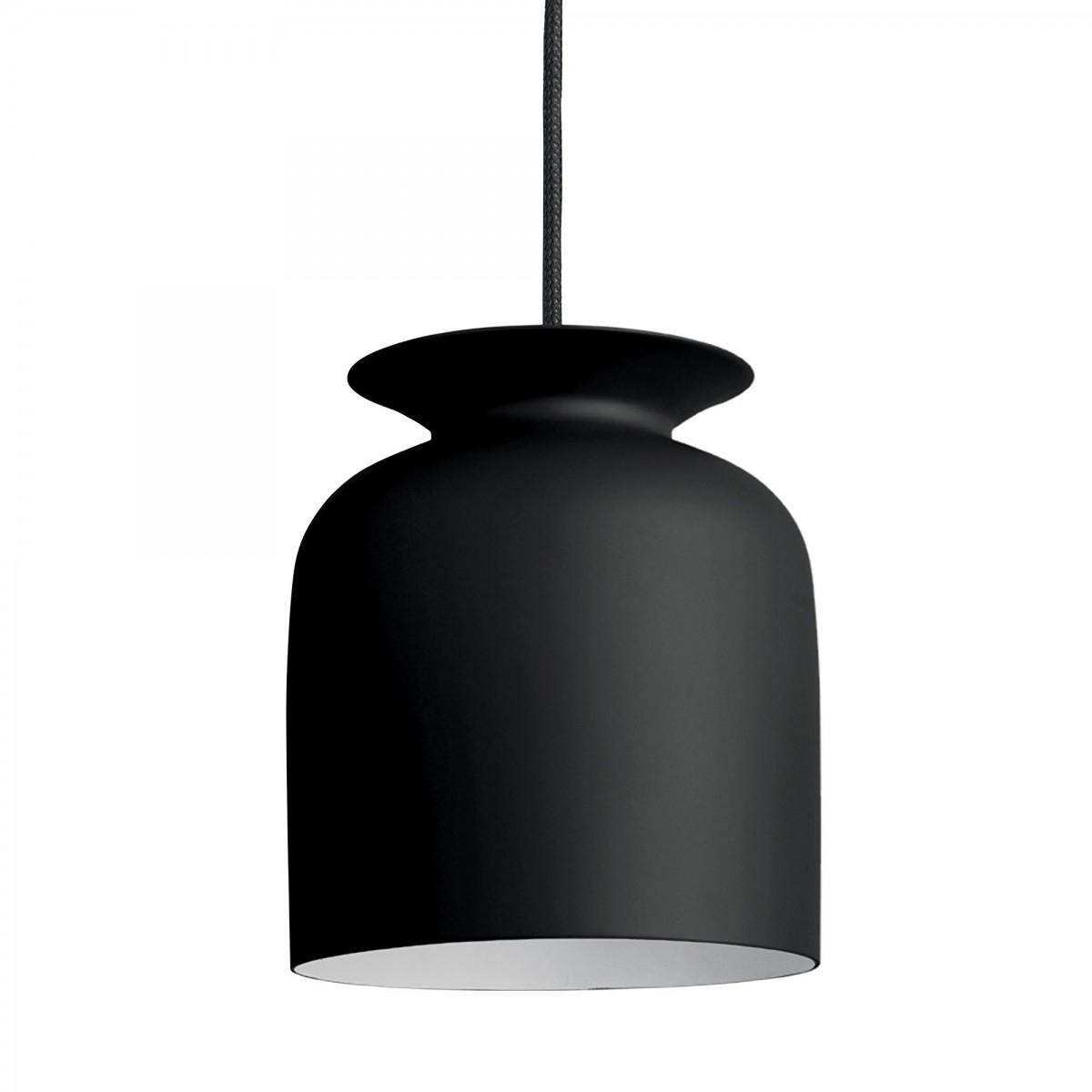 suspension ronde s noir gubi. Black Bedroom Furniture Sets. Home Design Ideas