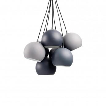 Balles multi pendantes dégradé gris