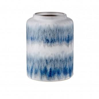 Petit vase Mezzanotte bleu/gris
