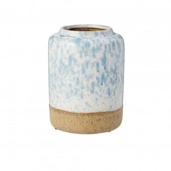 Petit vase Mezzanotte blanc/bleu clair