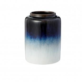 Petit vase Mezzanotte blanc/bleu foncé
