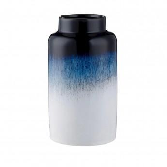 Grand vase Mezzanotte blanc/bleu foncé