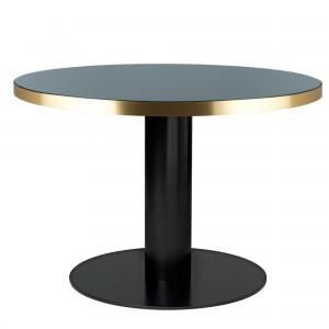 Table DINING 2.0 ronde en verre, vert bouteille Gubi