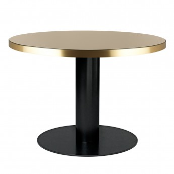 Table DINING 2.0 ronde en verre, sable Gubi