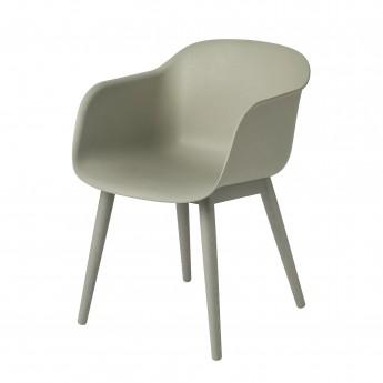 Chaise FIBER base bois - MUUTO