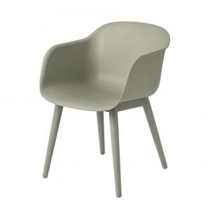 FIBER Arm chair wood base
