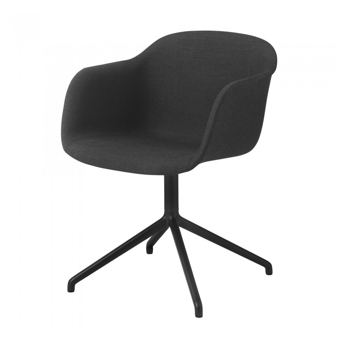Fiber Arm Chair Swivel Base For Office In Steel And