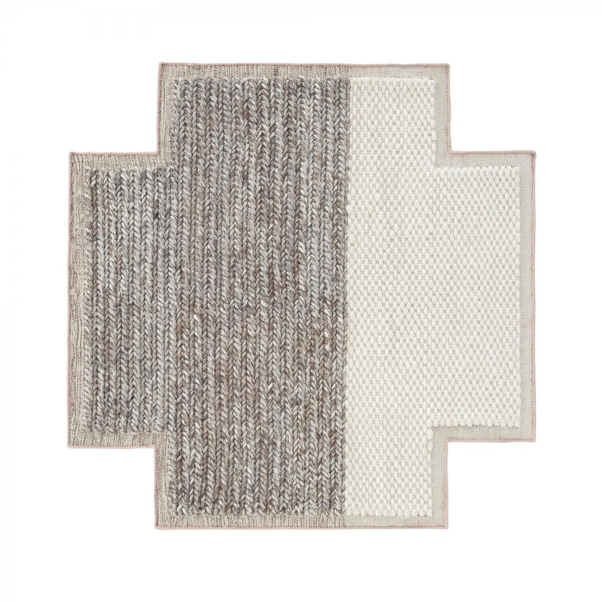 tapis carr rhombus mangas en laine gan rugs