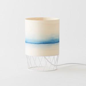 Lampe DOWOOD aquarelle S bleue